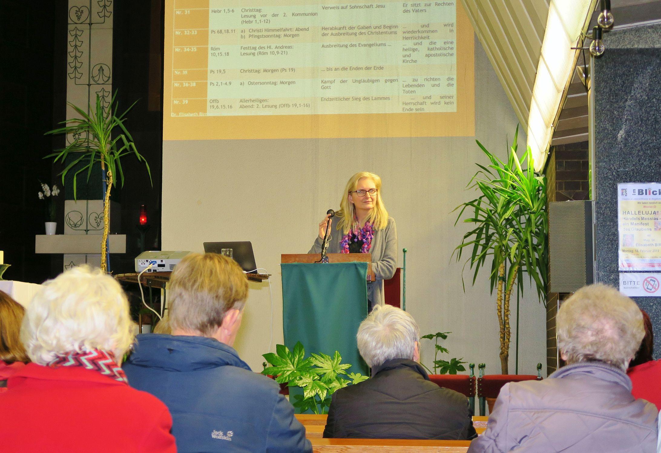 Dr. Elisabeth Birnbaum, Vortrag am 18.2.2019